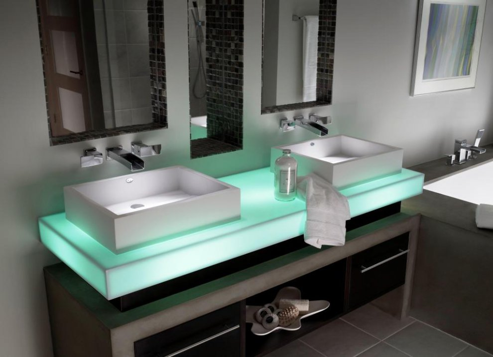Badezimmer corian solid surfaces corian - Badezimmer corian ...